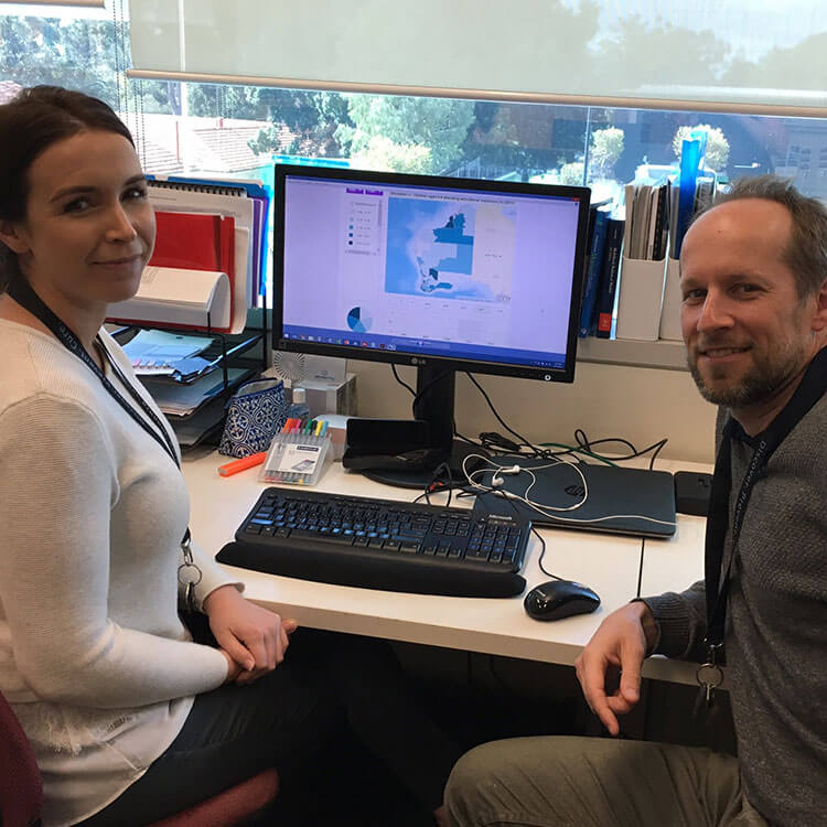 Child Development Atlas Project Manager Megan Bell and GIS Specialist Scott Sims